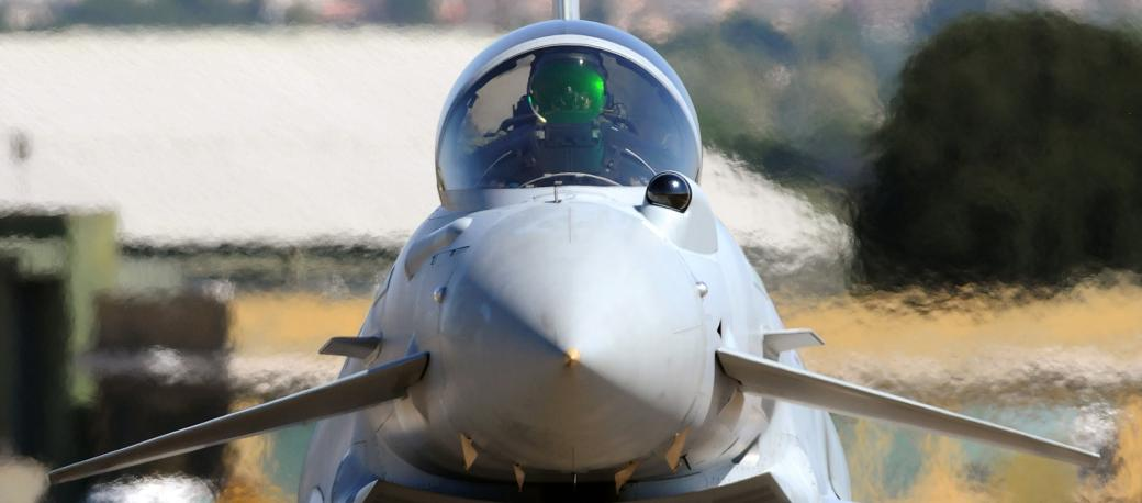 Excelitas developed and manufactures the head-up display for the Eurofighter Typhoon program