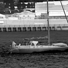 Through-Camera image of sailing yacht captured by CheetIR-L