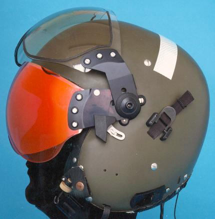 LEP Aircrew Helmet with laser protection visor