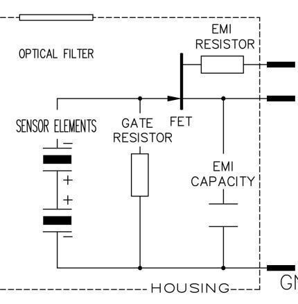 Excelitas PYD1388/PYD 1398 schematic