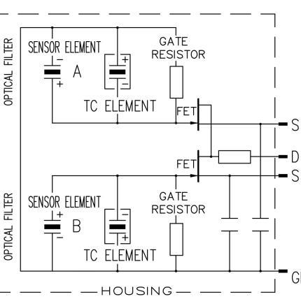 Excelitas PYS 3428 TC schematic