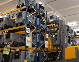 Excelitas Through-Life Support fulfillment center warehouse