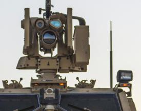Excelitas Optronic System mounted atop a Joint Light Tactical Vehicle (JLTV)