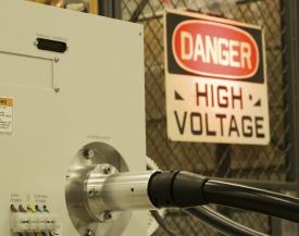 High-Voltage Power Supply Under Testing